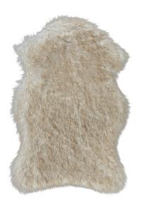 Covor alb/bej din fibre acrilice si poliester Softa Lalee (diverse dimensiuni)