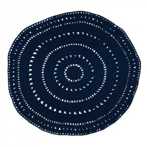 Covor albastru din bumbac 120 cm Umaa Blue Zago