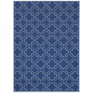 Covor albastru din polipropilena Retro Geometric The Home (diverse dimensiuni)