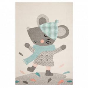 Covor crem/gri pentru copii 170x120 cm Play in the Rain Zala Living