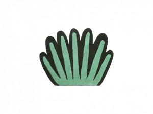 Covor / Decoratiune perete pentru copii verde din lana 55x80 cm Coral Ferm Living