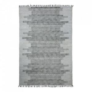 Covor dreptunghiular gri din textil 160x230 cm Karma House Doctor