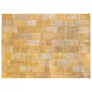 Covor galben din lana 480x650 cm Vintage Patchwork Versmissen