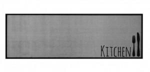 Covor gri bucatarie din poliamide 50x150 cm Cutlery Grey Zala Living