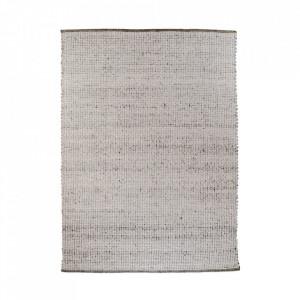 Covor gri din lana si bumbac 160x230 cm Kansas House Nordic