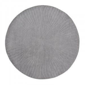 Covor gri din lana WW Folia-Grey Round Brink & Campman (diverse dimensiuni)