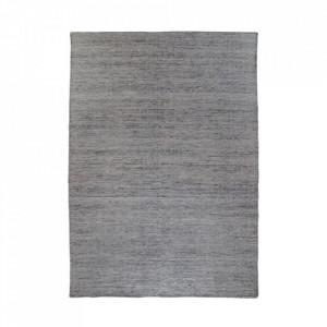 Covor gri grafit din poliester si bumbac 160x230 cm Utah House Nordic