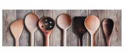 Covor maro bucatarie din poliamide 45x140 cm Cooking Spoons Zala Living