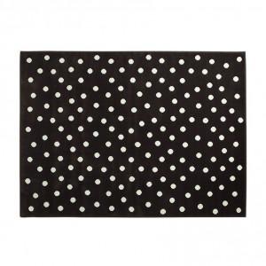 Covor maro din fibre acrilice 120x160 cm Dots Lorena Canals