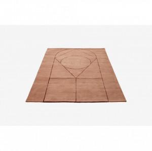 Covor maro din lana 240x170 cm Simbolo Powder Bolia