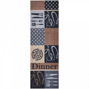 Covor maro/gri bucatarie 150x50 cm Dinner Zala Living