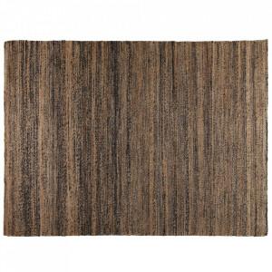 Covor maro/negru din canepa 160x230 cm Tapis Zago