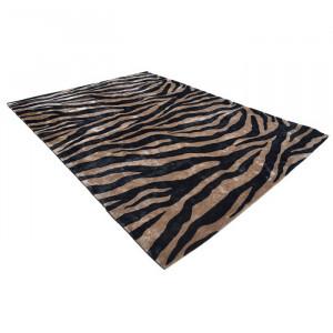 Covor maro/negru din lana 300x400 cm Zebra Van Roon Living