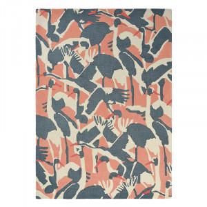 Covor multicolor din lana TB Cranes-Pink Brink & Campman (diverse dimensiuni)