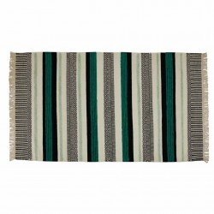 Covor negru/turcoaz din lana si viscoza 120x170 cm Yamu Black Turquoise Zago
