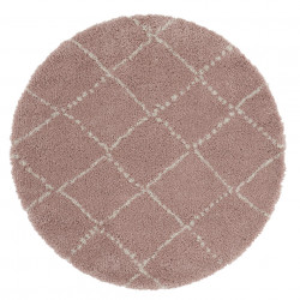 Covor roz/crem din polipropilena Allure Hash Rose Cream Round Mint Rugs (diverse dimensiuni)