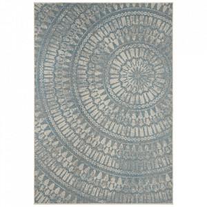 Covor turcoaz/grej din polipropilena pentru exterior Jaffa Arnon Turquoise Taupe Bougari (diverse dimensiuni)