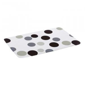 Covoras multicolor din microfibra pentru baie 45x70 cm Dots Grey Unimasa