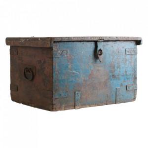 Cufar maro/albastru din lemn de tec Navia Raw Materials