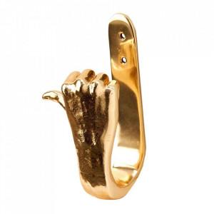 Cuier auriu din aluminiu Thumbs Up Pols Potten