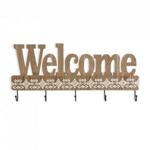 Cuier maro din lemn si metal Welcome Versa Home