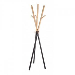 Cuier maro/negru din lemn si otel Bastien Bizzotto
