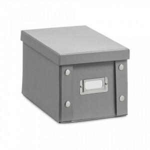 Cutie cu capac gri din carton CD Box Mini Zeller