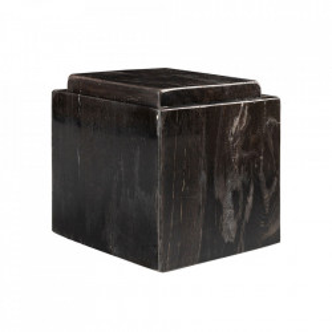 Cutie cu capac neagra din lemn pietrificat Gorber Versmissen