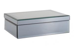 Cutie gri fum din sticla si MDF pentru bijuterii Blacey Richmond Interiors