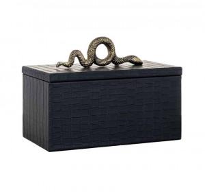 Cutie neagra din aluminiu si MDF pentru bijuterii Charly Richmond Interiors