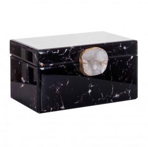 Cutie neagra din sticla si MDF pentru bijuterii Maeve Richmond Interiors