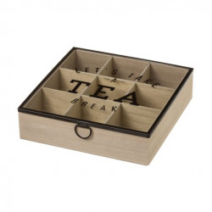 Cutie pentru ceaiuri din MDF si sticla Tea Break Nine Unimasa