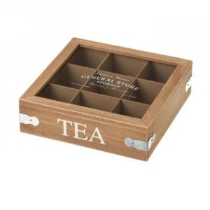 Cutie pentru ceaiuri din MDF si sticla Tea Bryant Unimasa