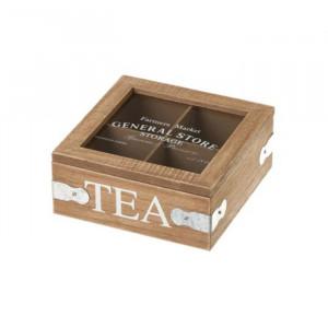 Cutie pentru ceaiuri din MDF si sticla Tea Unimasa