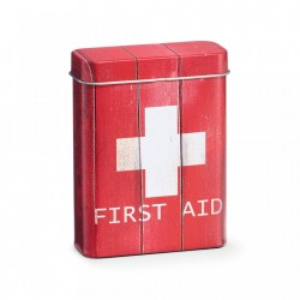 Cutie rosie/alba cu capac din metal pentru medicamente First Aid Red Mini Zeller