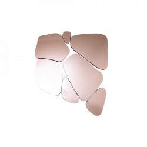 Decoratiune cu oglinda roz din sticla pentru perete 70x78 cm Fragment Invicta Interior