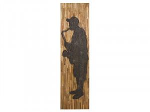 Decoratiune de perete din lemn de mango reciclat si MDF 50x183 cm Sax Santiago Pons