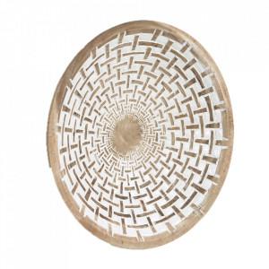 Decoratiune de perete maro din lemn de mungur 50 cm Mely Kave Home