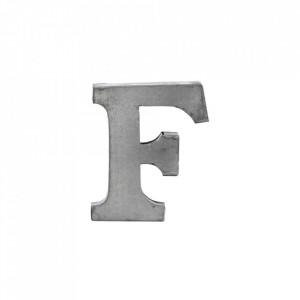 Decoratiune gri din fier 5,5 cm Letter F Madam Stoltz