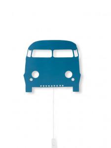 Decoratiune luminoasa albastra din lemn Car Ferm Living