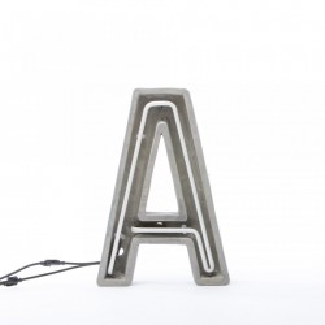 Decoratiune luminoasa din ciment 40 cm A Alphacrete Seletti