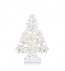 Decoratiune luminoasa LED alba din lemn Prince Tree Markslojd