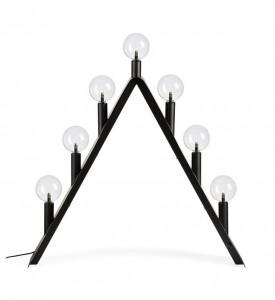 Decoratiune luminoasa neagra din metal si sticla Step Markslojd