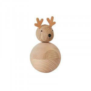 Decoratiune maro din lemn 12 cm Rudolf Oyoy