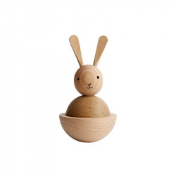 Decoratiune maro din lemn 13 cm Rabbit Oyoy