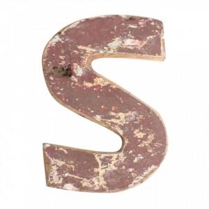 Decoratiune maro din lemn 18 cm S Raw Materials