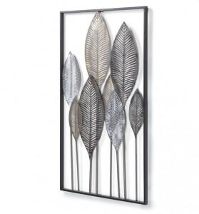 Decoratiune multicolora din metal pentru perete 52,5x95 cm Leaves Kave Home
