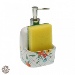 Dispenser multicolor din ceramica 10,5x17,8 cm Fiori Sponge Versa Home