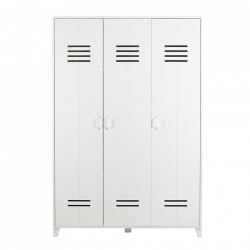 Dulap alb din lemn de pin 186 cm Locker Woood