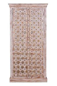 Dulap maro/alb din lemn de mango si bronz 180 cm Bakhra Giner y Colomer